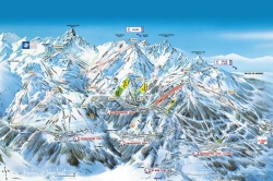 Courchevel piste map.