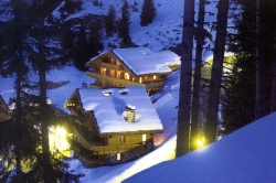 Chalets in Meribel.